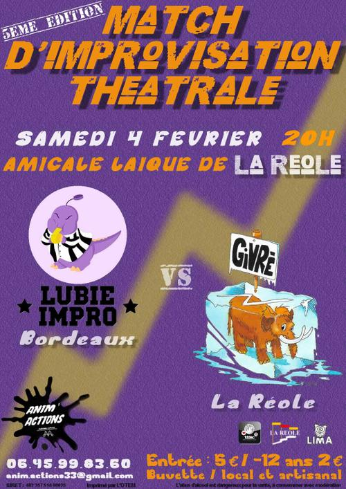 Affiche match d'inprovisation 2017